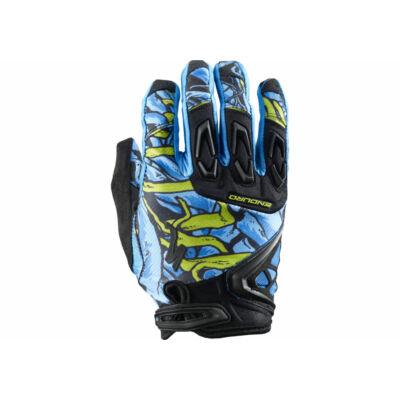 kesztyű Enduro  neon kék M