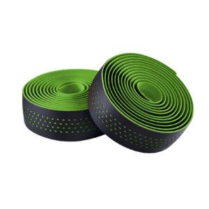 Kormánybandázs MERIDA MICROFIBER zöld/fekete, végdugóval, Shockproof 210cm - 6340