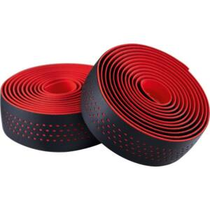 Kormánybandázs MERIDA MICROFIBER piros, végdugóval, Shockproof 210 cm - 6351
