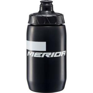 Kulacs MERIDA STRIPE fekete, 500ml (fehér Merida logóval), zárókupak - 3938