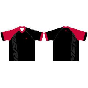 Mez MERIDA F45 rövid piros fekete V Freeride Enduro - 740802-F45RED