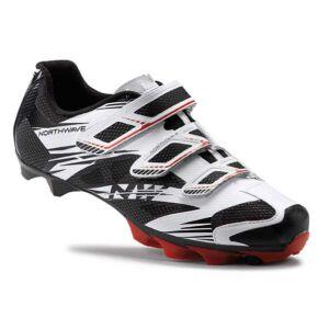 Cipő NORTHWAVE MTB SCORPIUS2 3S 45 fehér-fekete-piros
