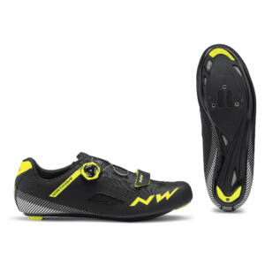 Cipő NORTHWAVE ROAD CORE PLUS 46 fekete-fluo sárga