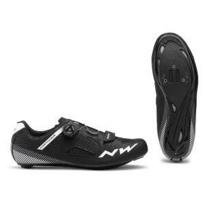Cipő NORTHWAVE ROAD CORE PLUS WIDE 46 szélesített verzió, fekete