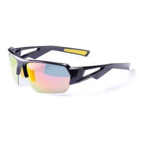 Szemüveg BIKEFUN GLADIATOR fekete #2 polarizált red revo lencse flash mirror C3 + 2 pár opciós lencse