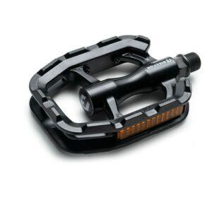 Pedál BIKEFUN SOLE Trekking egyrészes alu, fekete - C336BLK