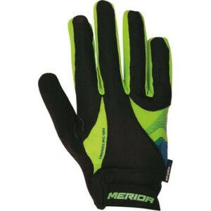 Kesztyű MERIDA Sport III FF hosszú S zöld/fekete