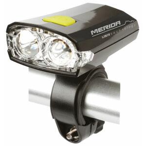 Lámpa MERIDA első, 2 LED, fekete 3 funkció, USB, akku - HL-MD025