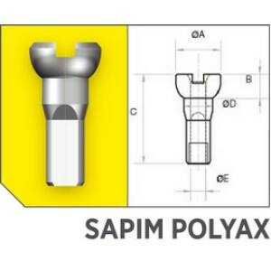 Küllőanya SAPIM POLYAX réz 14G 12 mm fekete
