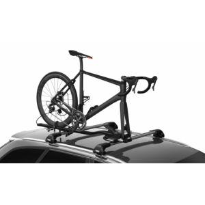 Kerékpárszállító THULE TOPRIDE 568 tetőre 1krp villarögzítéses átütőtengelyes