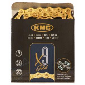 Lánc KMC X9 arany