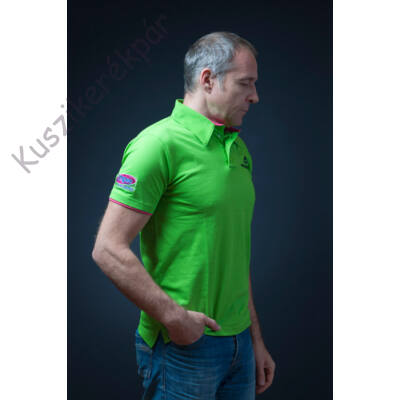 Polo MERIDA LOGO EDITION rövid gallér XXL zöld