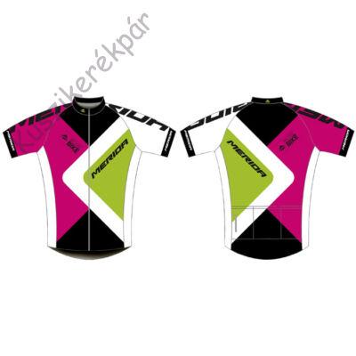 Mez MERIDA 2015 rövid 373 XS pink zöld végig cipzár