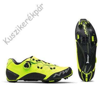 Cipő NORTHWAVE MTB GHOST XC 43,5 sárga fluo/fekete