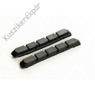 Fékbetét BIKEFUN MTB 72 mm menetes fekete, csak gumi - MTB-945VCR