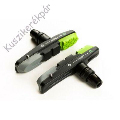 Fékpofa BIKEFUN MTB 72 mm menetes cartridge, zöld/fekete/szürke - MTB-955VC