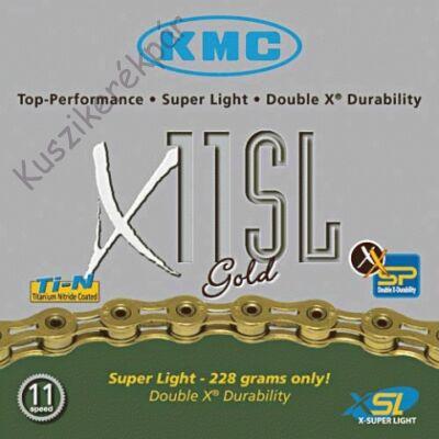 Lánc KMC X11SL GOLD 1/2x1/128 114L