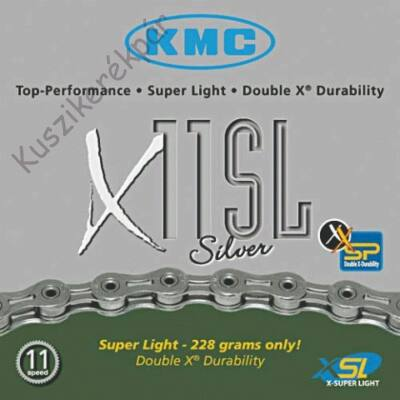 Lánc KMC X11SL SILVER 1/2x1/128 114L