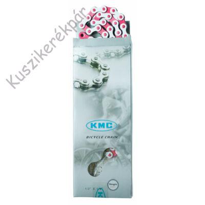 Lánc KMC Z510H fehér/pink